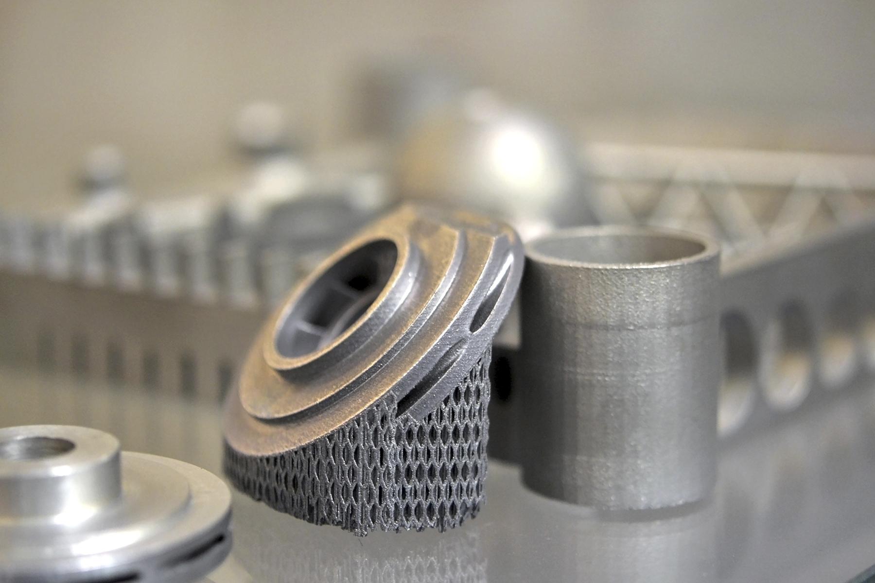 metal jet peça impressão 3d