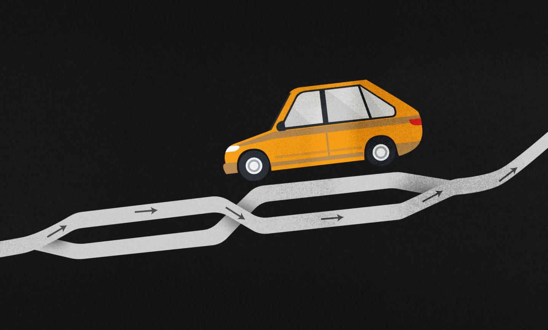 A estrada que vai na contramão