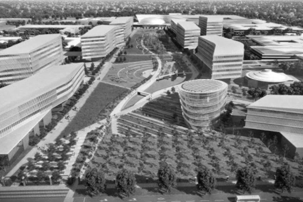 fábrica da Ford é um exemplo de espaços sustentáveis promovidos pela empresa, com grandes janelas e diversas árvores