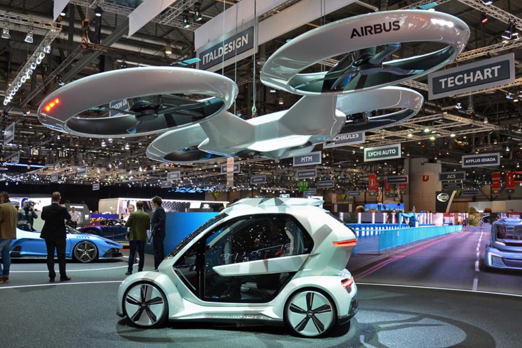 modelos de carros voadores apresentados em Geneva